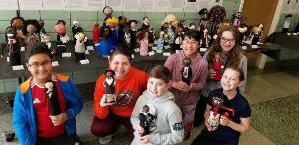 Fifth graders with bottle buddies