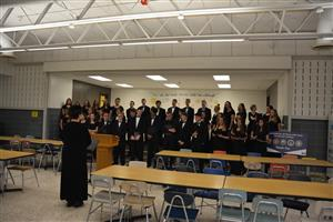Choir sings patriotic songs