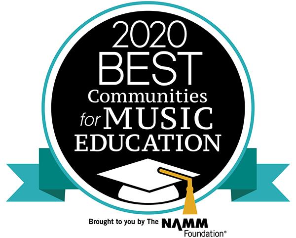 2020 Best Communities for Music Education award
