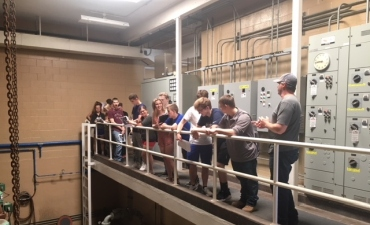 Wastewater Plant Tour Shows Scientific Principles at Work