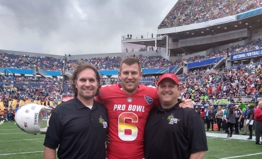 Brett Kern and two assistant coaches at Pro Bowl