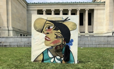 Portrait outside Albright Knox Gallery